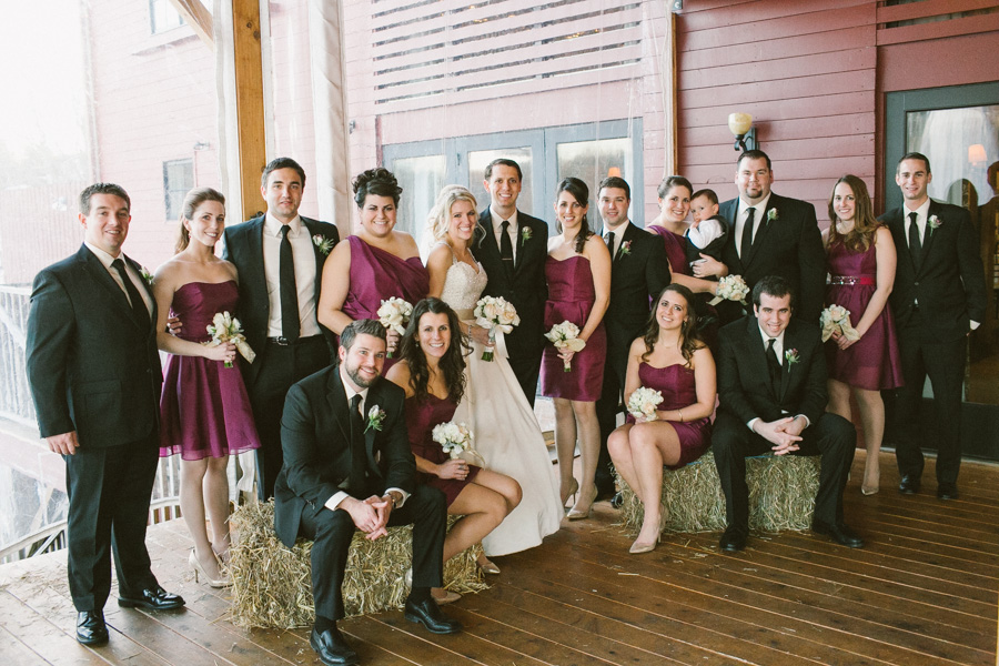 Barn at Gibbet Hill Wedding Party