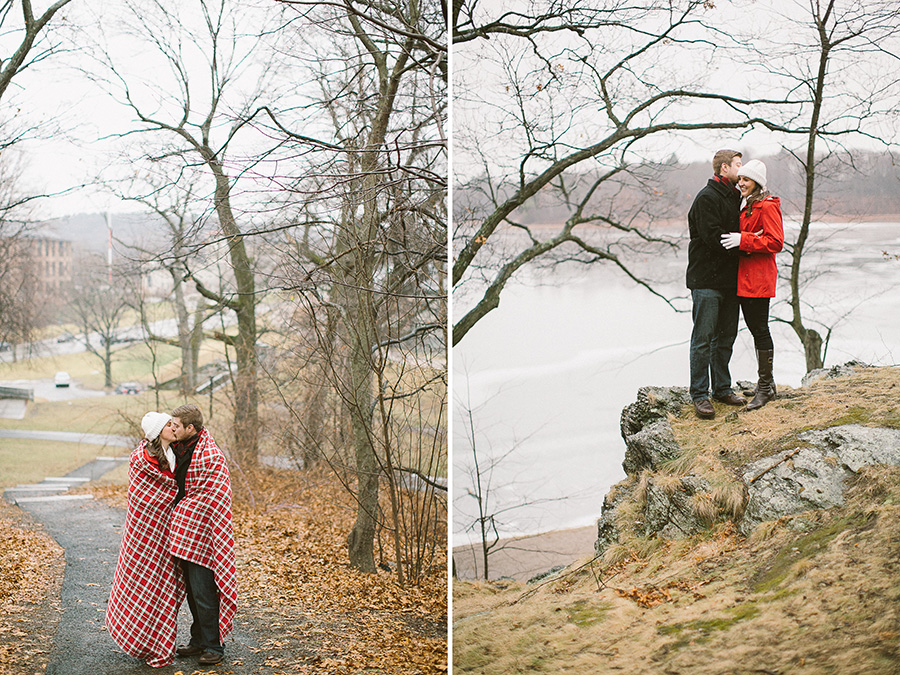 Brookline Winter Engagement Session