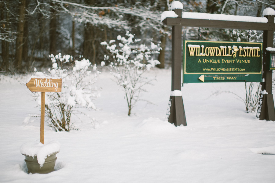 Willowdale Estate Winter Wedding Photography