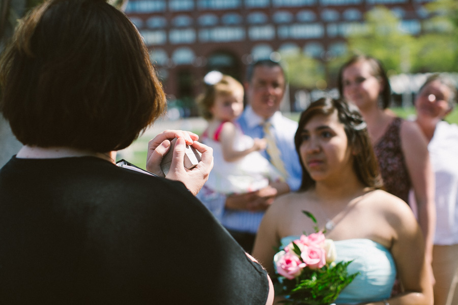 Boston Downtown Outdoor Wedding Ceremony