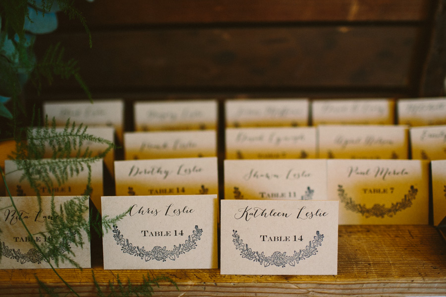 Creative Massachusetts Wedding Place Cards