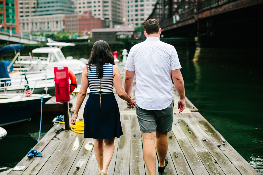 Creative Downtown Boston Engagement Session