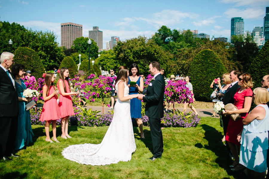 Intimate Boston Common Wedding