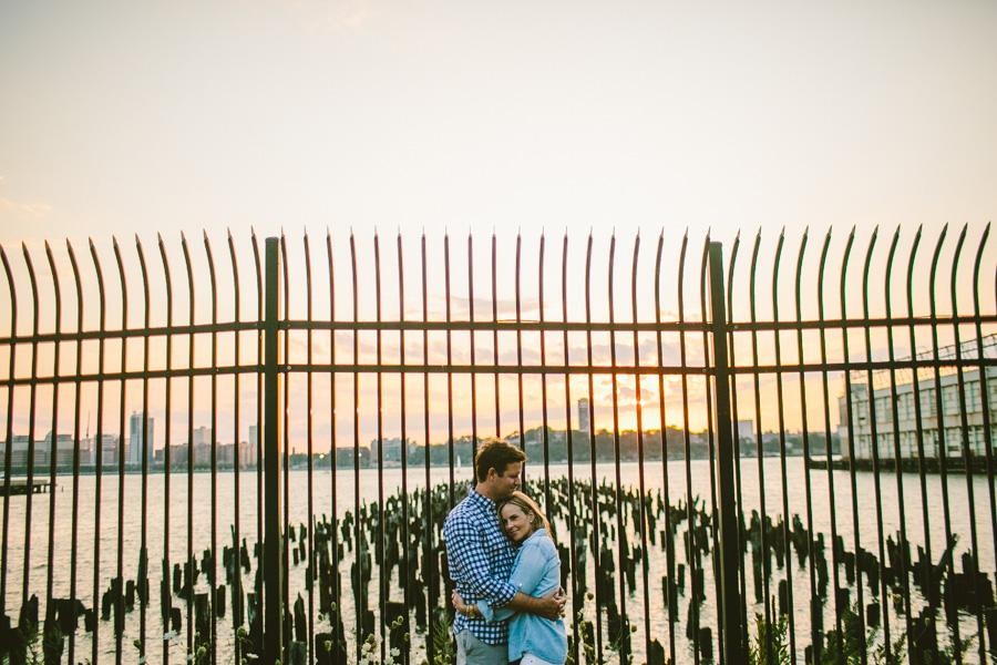 Manhattan Sunset Engagement Session