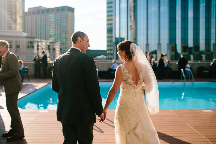 Rooftop Pool Wedding Reception