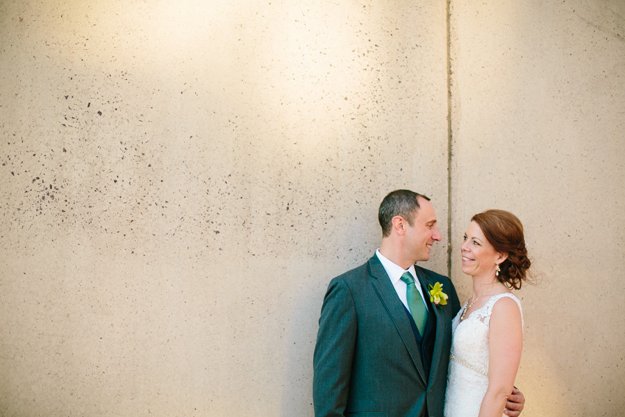 Downtown Boston Wedding Portrait