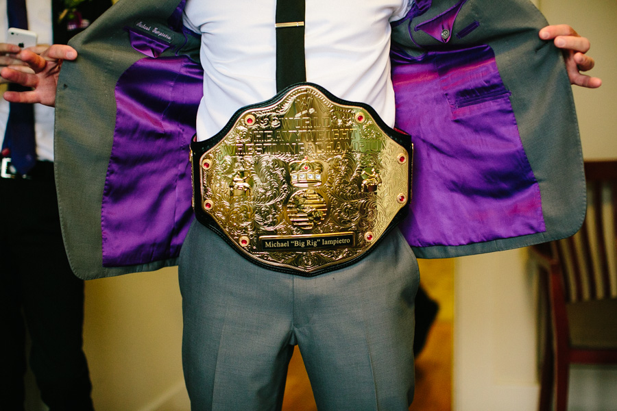 WWE Title Belt Wedding