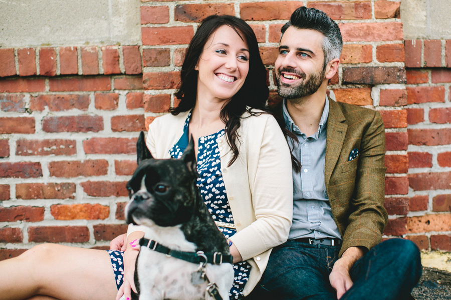 Boston Terrier Engagement session