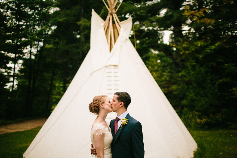 New England Summer Camp Wedding Portraits