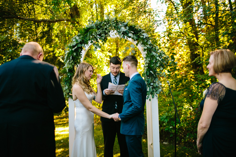 Horse Farm Wedding Ceremony