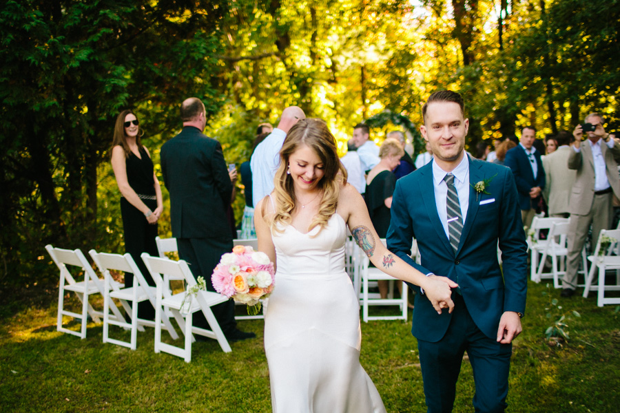 Creative New England Wedding Ceremony