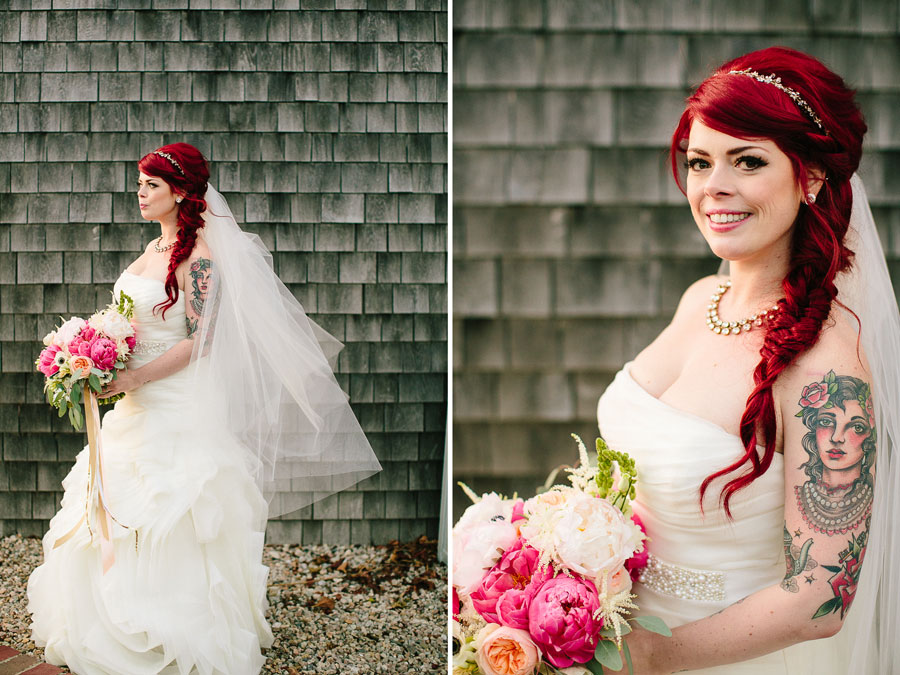 Tattooed Cape Cod Bride