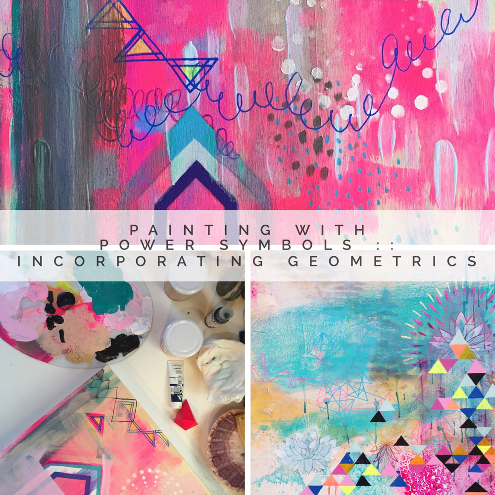 #7. Painting With Power Symbols :: - Incorporating GeometricsEvery month, we'll share a series of fresh videos, inspirational content, start to finish painting demos and peaks into our studios. These monthly episode will all be centered around a monthly theme that will closely follow the chapter themes in our new book Painting The Sacred Within! This class will work well as a supplement to our book…