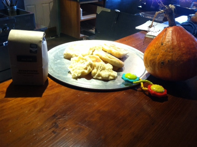Mary's pumpkin, Stumptown coffee, Neiva's toy and Janice's muffins!