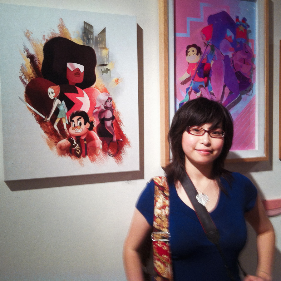 Me with one of my Steven Universe paintings
