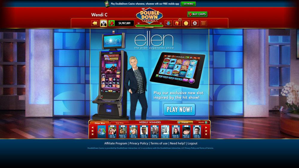 Ellen Slots - Promotional Landing Page