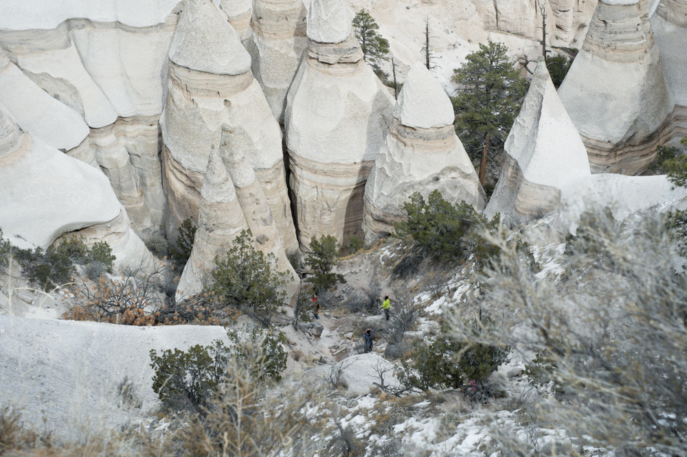 The people in the landscape    [January, 2014; Tent Rocks National Monument, NM]
