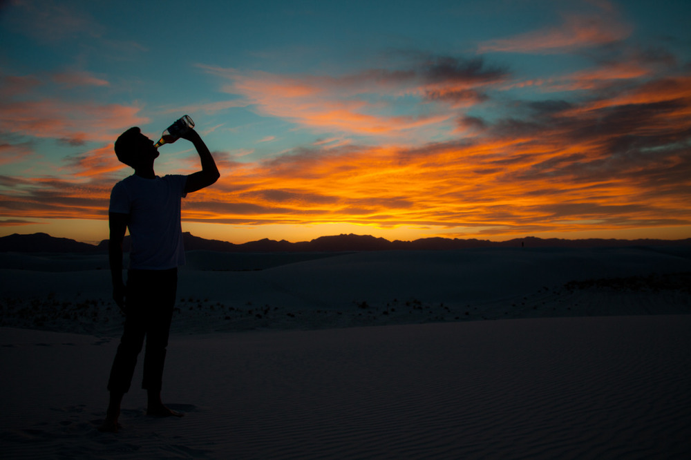 And sometimes, just sometimes, you just need a nice sunset in a white sands oasis with a cold 40 of beer. [May, 2013; White Sands National Monument, NM]