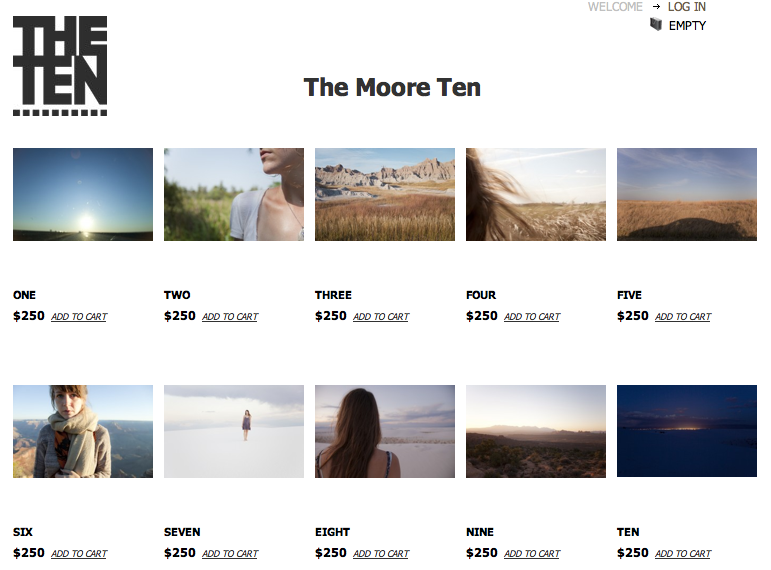 The Moore Ten has officially launched!!!    I'm thrilled to be part of Jennifer Schwartz's The Ten, which is a way for collectors to buy original art and also support emerging photographers.    The ten photographs featured will now only be available through The Ten.  Please share the link with people you think will be interested, and thanks again to everyone for your support and encouragement!    Much love,   Sarah