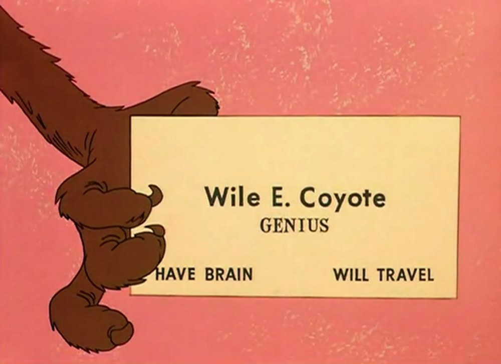 jenbee: Wile. E. Coyote, Genius WRT to this. @dansays nails it.  Exactly