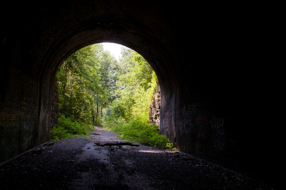 Moonville Railroad Tunnel    [July, 2012; Zaleski State Forest, OH]