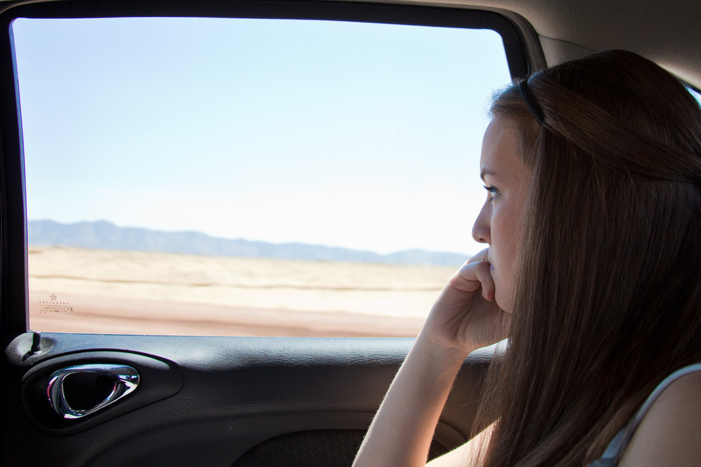 Jackie, en route to Chino Valley    [May, 2012;  somewhere outside of Phoenix, AZ]