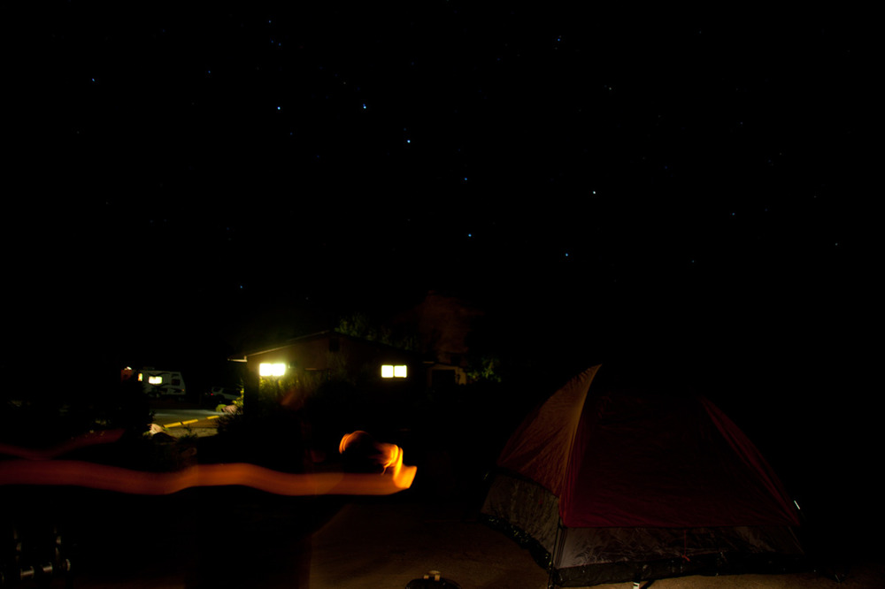 Camping in Utah looks like this. [from the archives; September, 2011; Arches National Park, UT]
