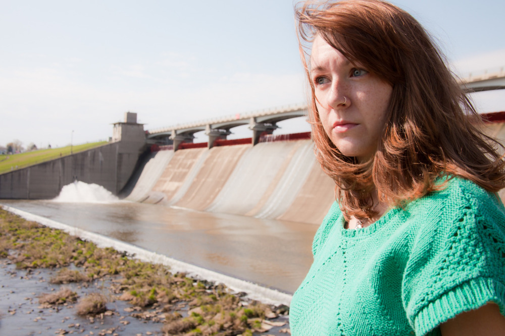 Self-portrait in front of the Hoover Dam [April 1, 2012; Westerville, OH]
