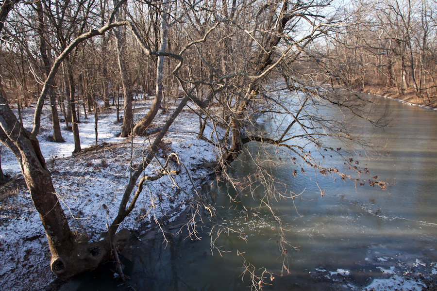 Big Darby Creek     [from   Just a Sigh  ; January, 2012; Prairie Oaks Metro Park, OH]