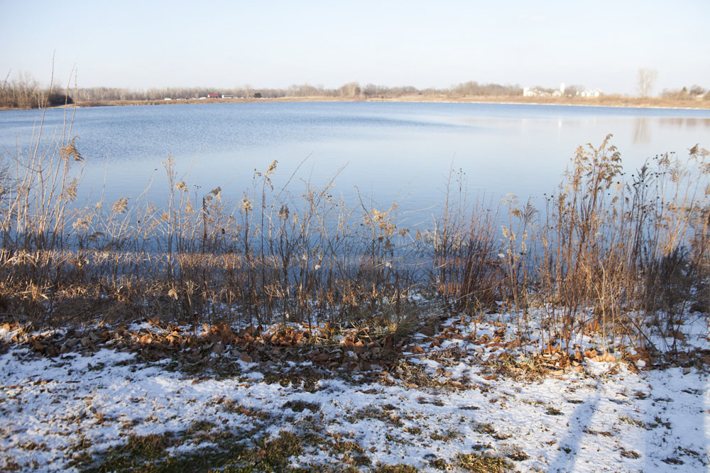 Darby Bend Lake    [from   Just a Sigh  ; January, 2012; Prairie Oaks Metro Park, OH]