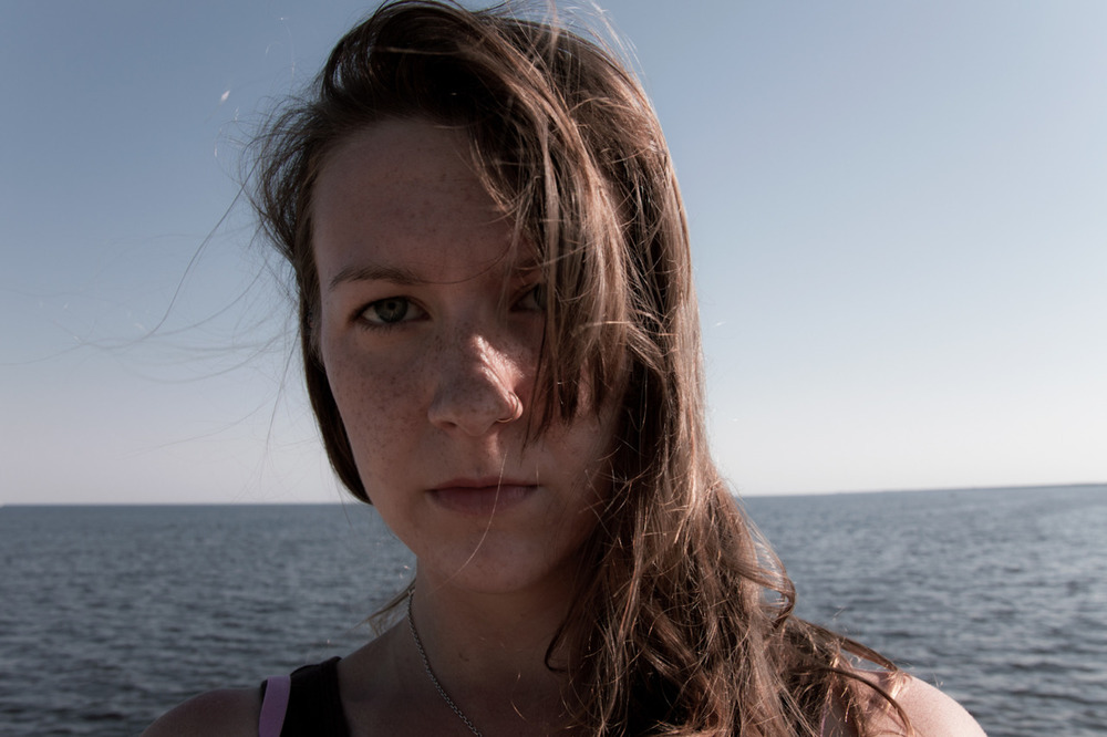 Would you look at all those chasing-summer freckles? [from Scape; September, 2011; Lake Pontchartrain, LA]