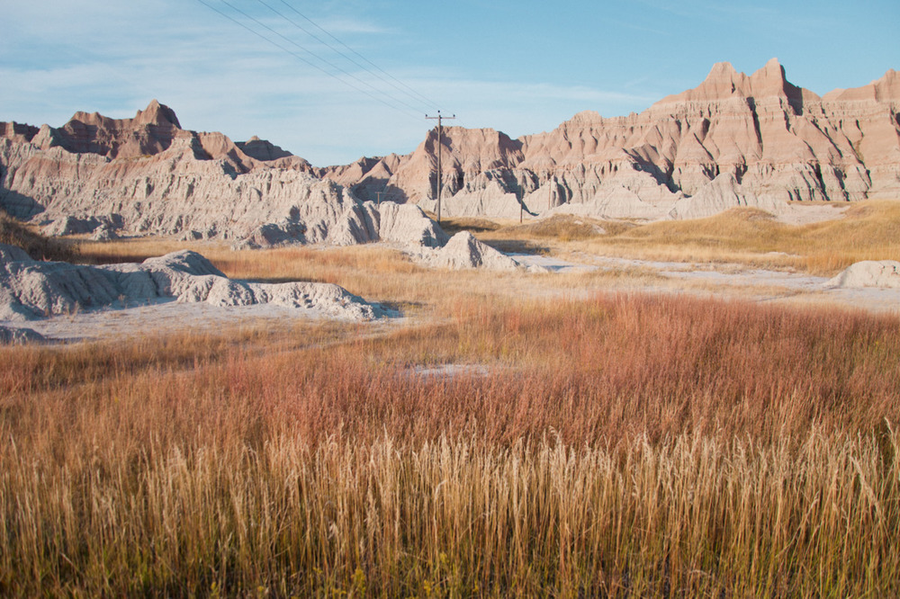 The Badlands is actually ranked in the top three landscapes I've seen in my life.  If any of you think the Dakotas are just boring fields (a term that doesn't make sense to me anyway), then you are very, very mistaken.   [from   Scape  ; October, 2011; Badlands National Park, SD]
