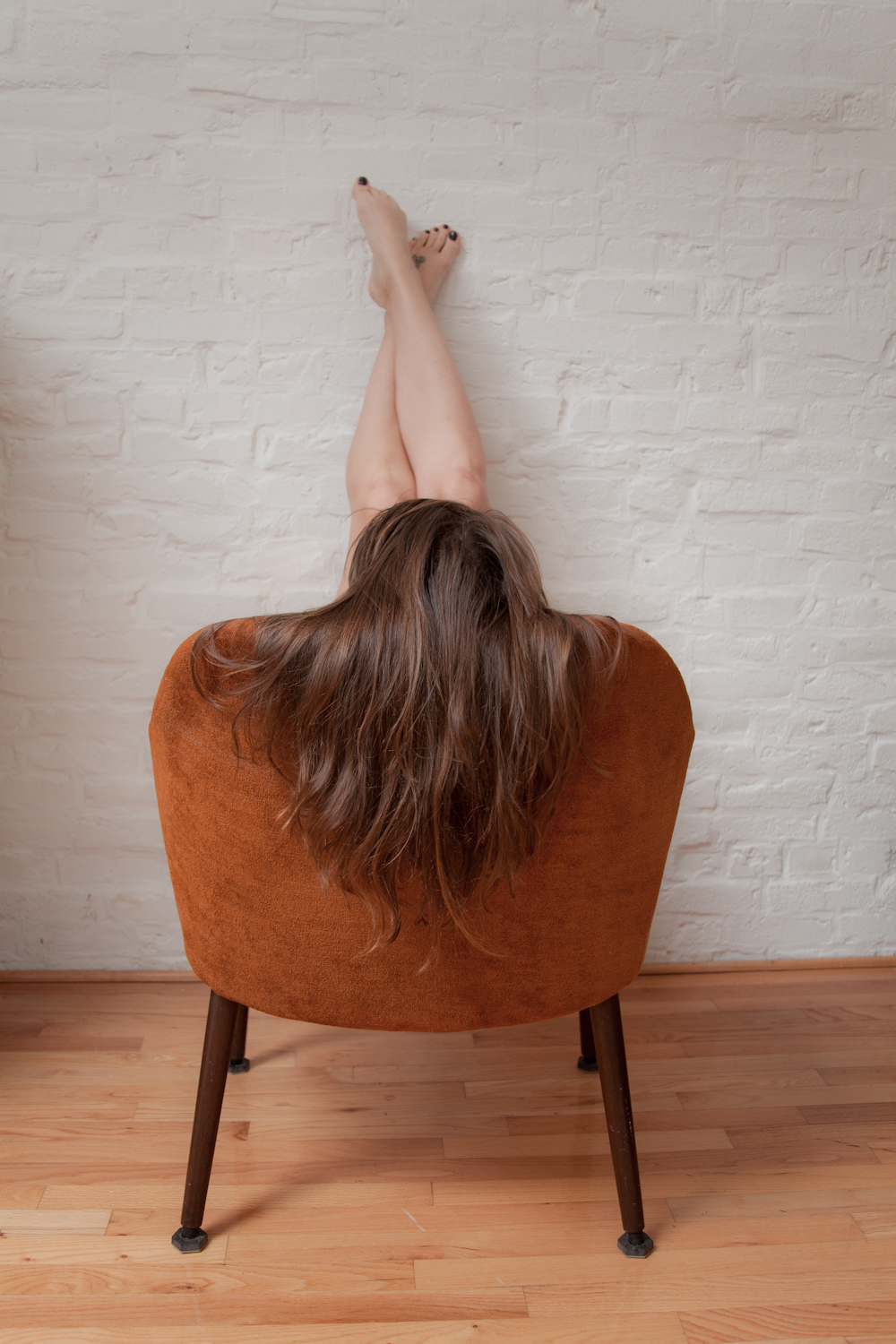 Another version of  this photograph .  Fun with self portraits and chairs.   [December, 2011; Columbus, OH]