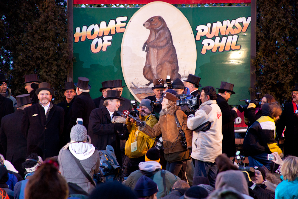 Happy Groundhog Day   [from the archives; February 2, 2010; Punxsutawney, PA]