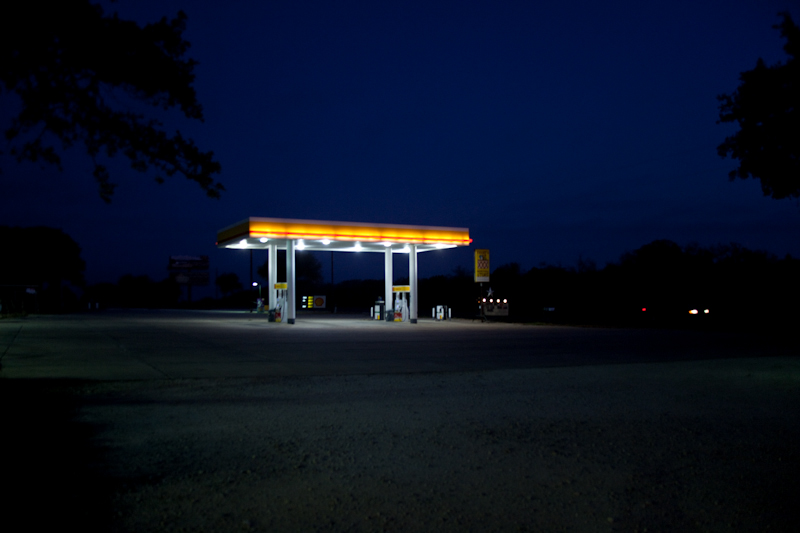 You have to get gas when you're on the road.   [September, 2011; Just outside of Austin, TX]