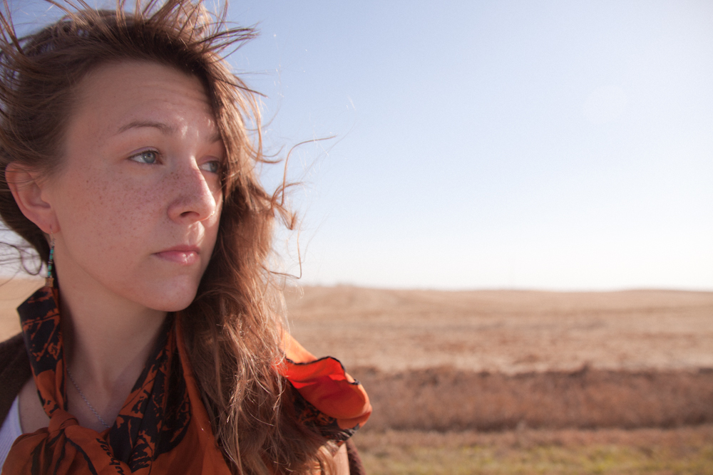 Self portrait in my hometown [October, 2011;  Brookings, SD]