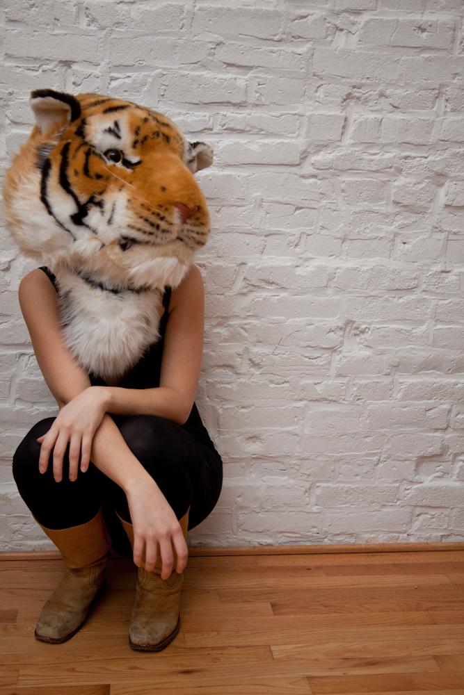 self portrait as a tiger