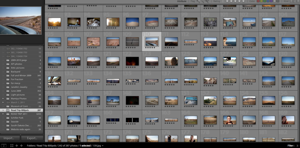 So many new photos to edit and sequence. Yikes.