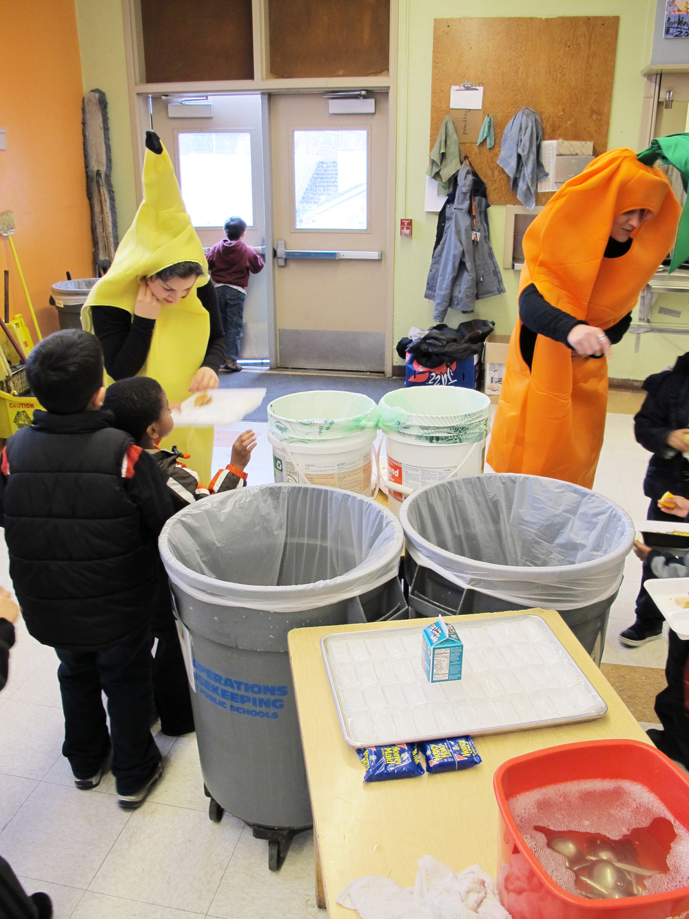 Teaching composting to students at Beech Elementary