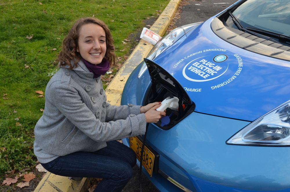 Emmaline demonstrates the benefits of electric vehicles