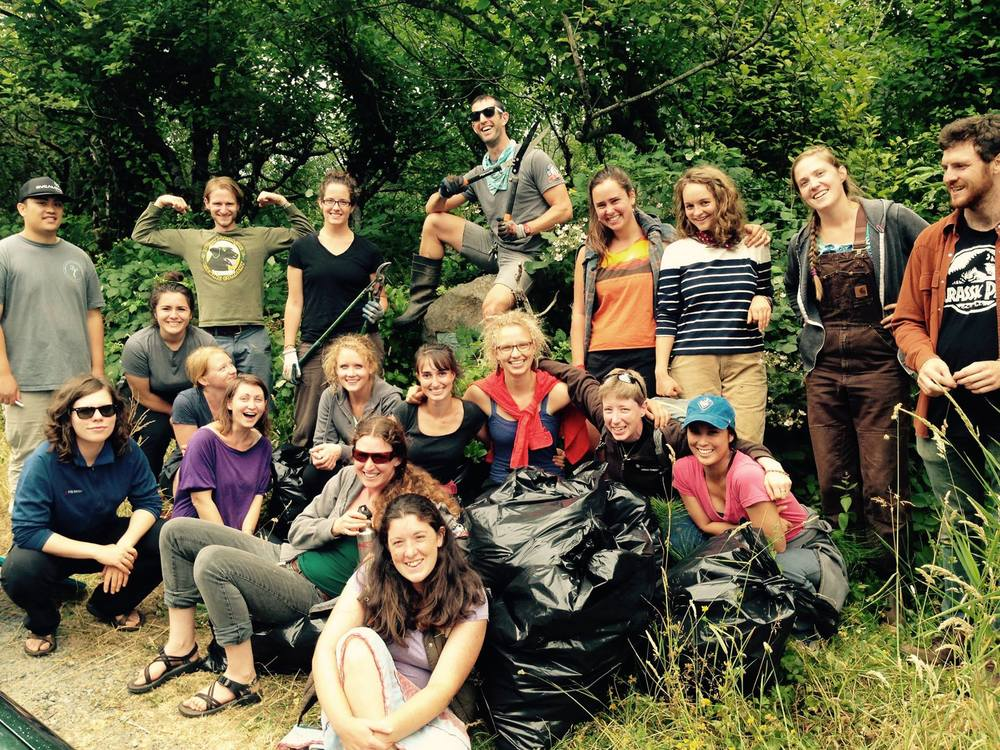 Posing with our bags full of Purple Loosestrife