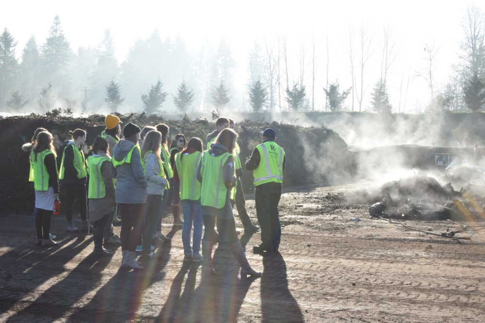 Watching the steam rise at the Nature's Needs composting facility in North Plains