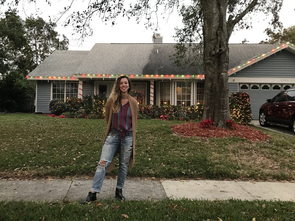 Katelyn and her Xmas Home