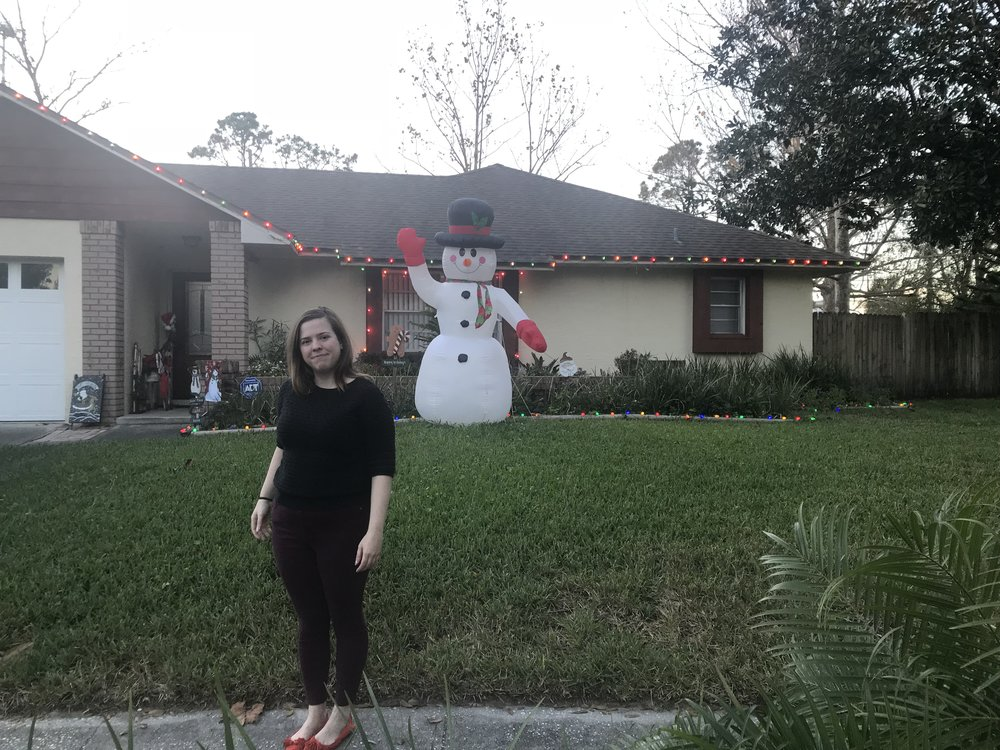 Kelly and her Xmas Home