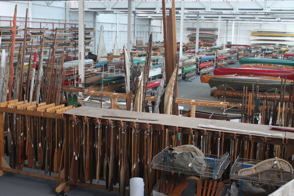 The Canadian Canoe Museum's remarkable collection not currently displayed. Until they are used for exhibition, this will be the  home for these new acquisitions. (CCM photo)