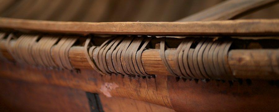 "Ojibway ""Long-Nose"" Birch Bark Canoe - 1977.51.1"