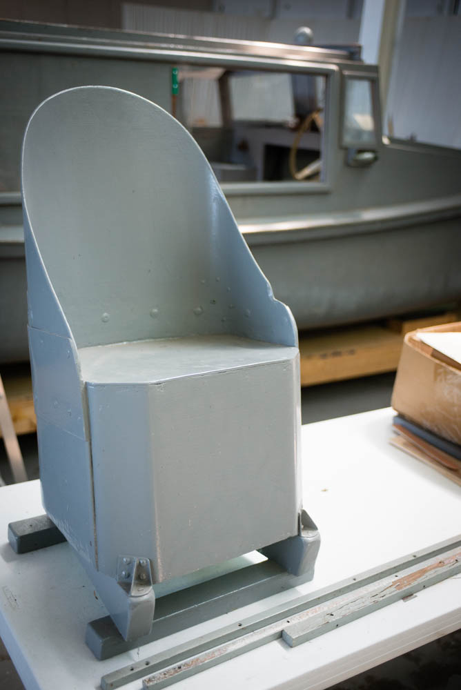 The navigator's seat from a Second World War bomber