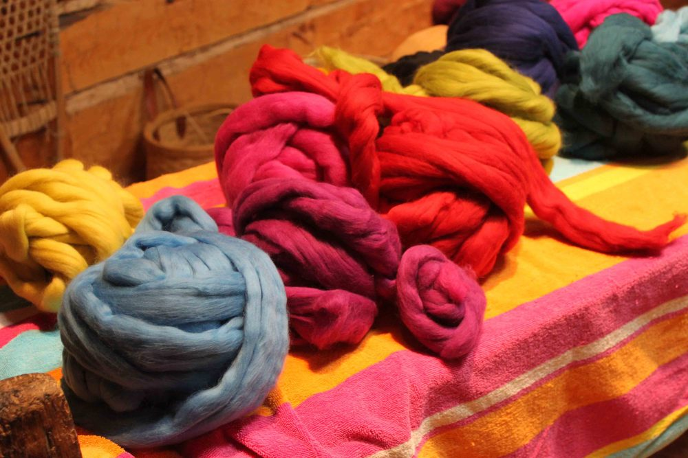 Wool waiting to be felted.