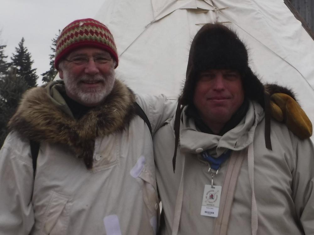 James Raffan and Cameron White enjoying activities at Festival du Voyageur!