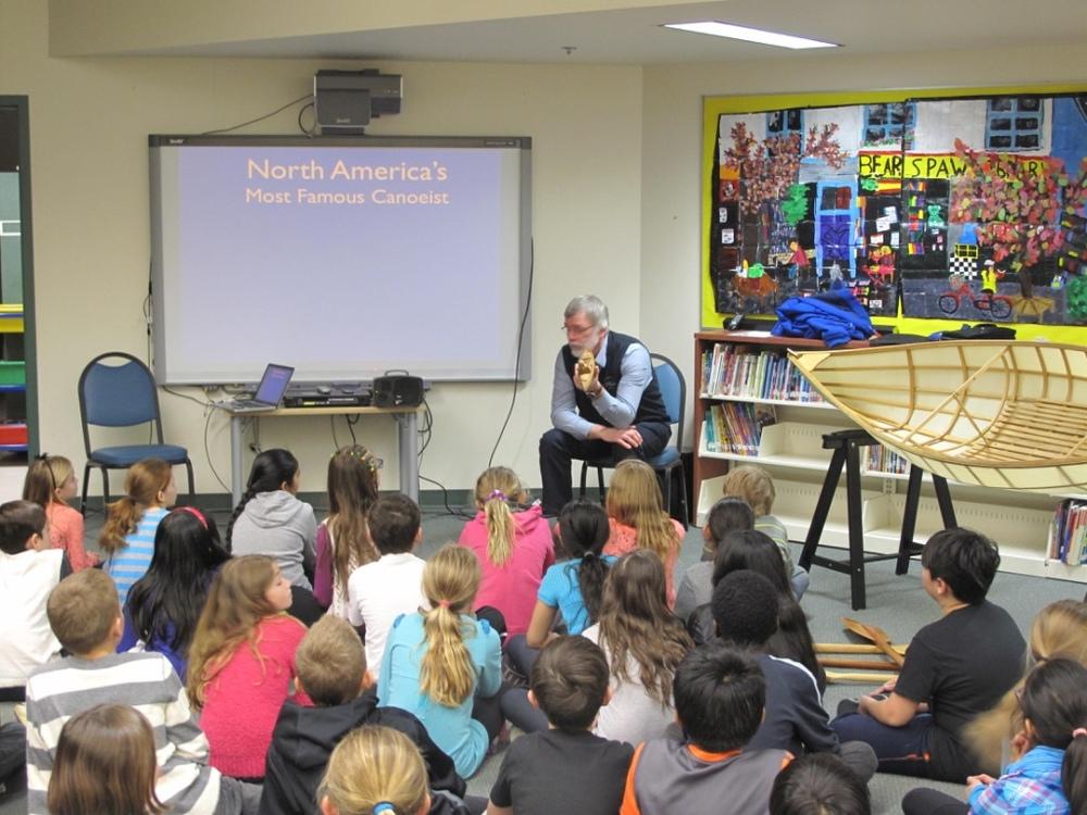 James Raffan speaking at Bearspaw School and Community Center